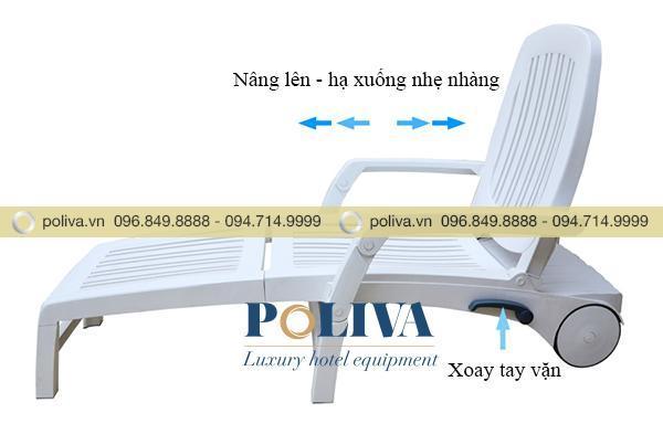 Tay vặn điều chỉnh độ ngả của ghế