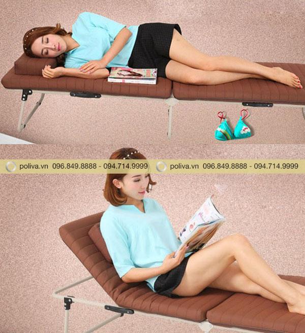 Người dùng có thể nằm hoặc ngồi, tùy theo nhu cầu sử dụng