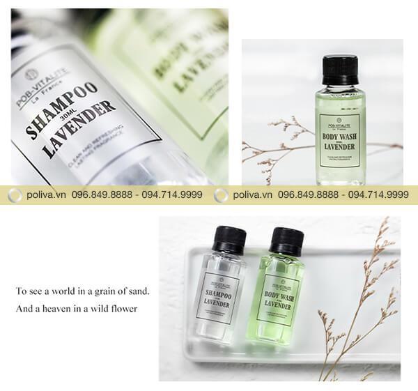 Bộ sản phẩm dầu gội sữa tắm hương lavender cao cấp