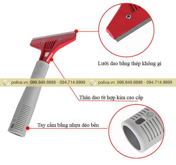 Các bộ phận của dao cạo sàn nhà