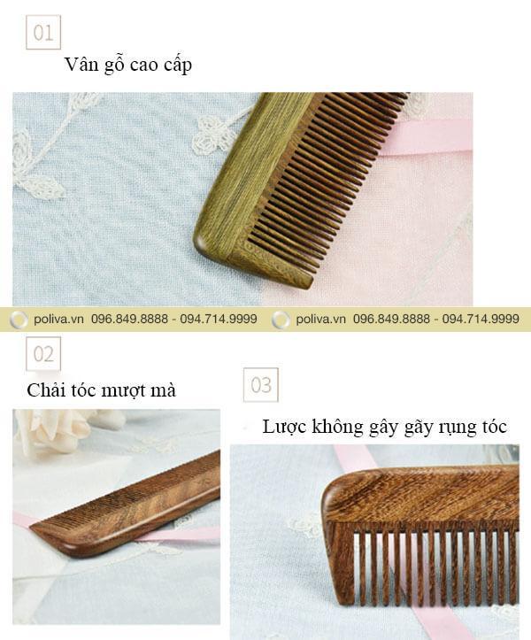 Răng lược được thiết kế dạng dày và thưa giúp dễ dàng chải các kiểu tóc