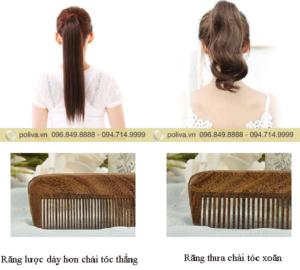 Dùng lược chải tóc cho nhiều loại tóc khác nhau