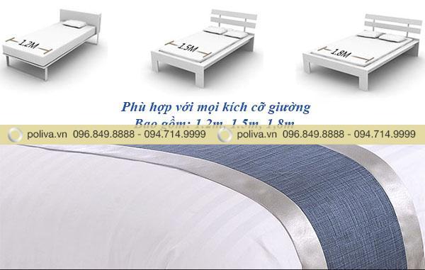 Kích thước tấm trang trí giường đa dạng, phù hợp với nhiều kích cỡ giường