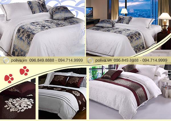 Poliva sở hữu đa dạng mẫu mã vải trải ngang giường, chuyên cung cấp cho các khách sạn 4-5 sao
