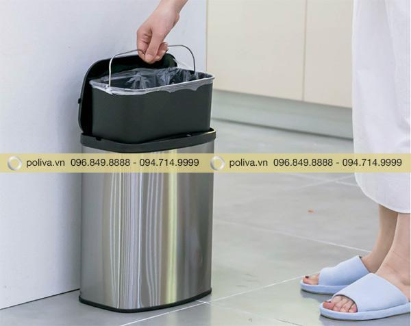Thùng rác thông minh khử mùi, dễ dàng lấy ra để thay túi, vệ sinh