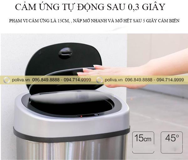 Thùng rác thông minh tự động mở khi gần nắp thùng