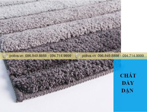 Thảm được làm từ chất lông dày dặn, giúp thấm hút hiệu quả