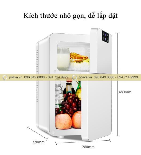 Kích thước tủ lạnh mini nhỏ gọn, không chiếm nhiều không gian