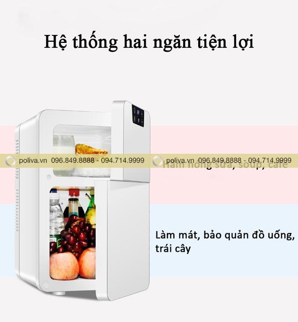 Thiết bị sử dụng công nghệ cao, tiên tiến luôn bảo quản thực phẩm, đồ uống tươi ngon