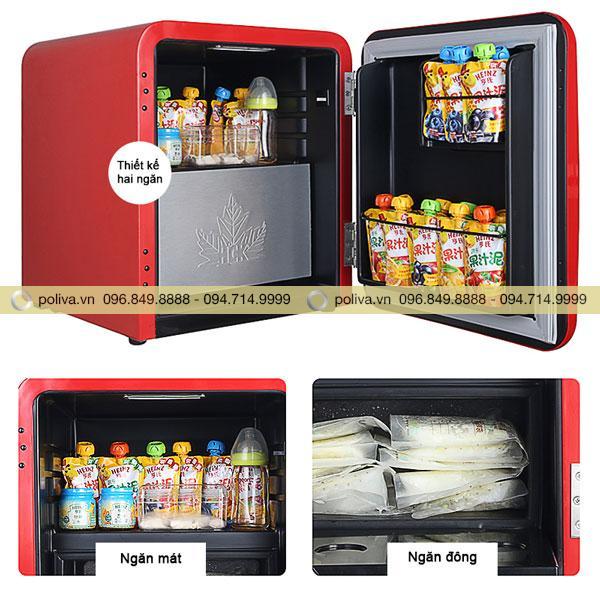 Tủ lạnh mini được trang bị hai ngăn tiện dụng