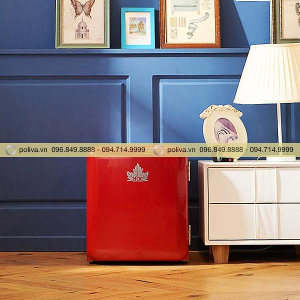 Kích thước tủ lạnh mini có ngăn đá nhỏ gọn, dễ di chuyển lắp đặt