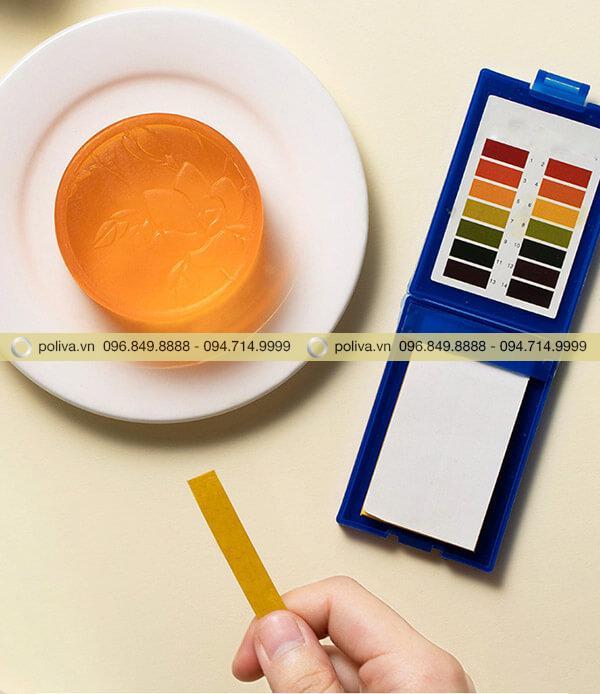 Độ pH của xà bông an toàn, không gây kích ứng da