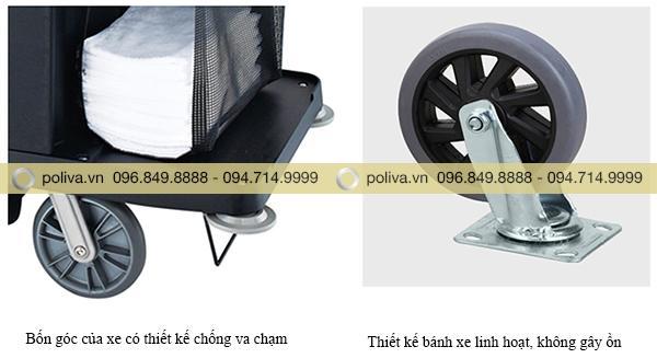 Thiết kế bánh xe và bộ phận chống va chạm