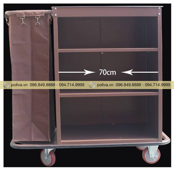 Chiều dài ngăn đựng đồ thích hợp cho các loại đồ vải khách sạn