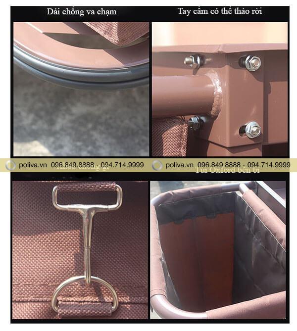 Cấu tạo chi tiết khung xe và túi đựng