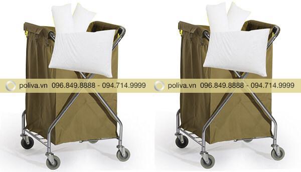 Xe chở đồ giặt ủi chuyên đựng các loại khăn tắm, vỏ gối, ga, dùng trong khách sạn