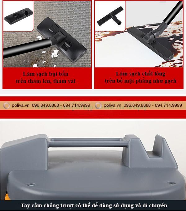 Thiết kế máy hút bụi gia đình được tối ưu hóa phù hợp với nhu cầu sử dụng của khách hàng