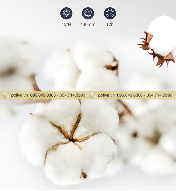 Chất liệu của áo choàng tắm được làm từ vải bông