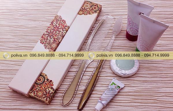 Hình ảnh bao bì bộ amenities do Poliva cung cấp