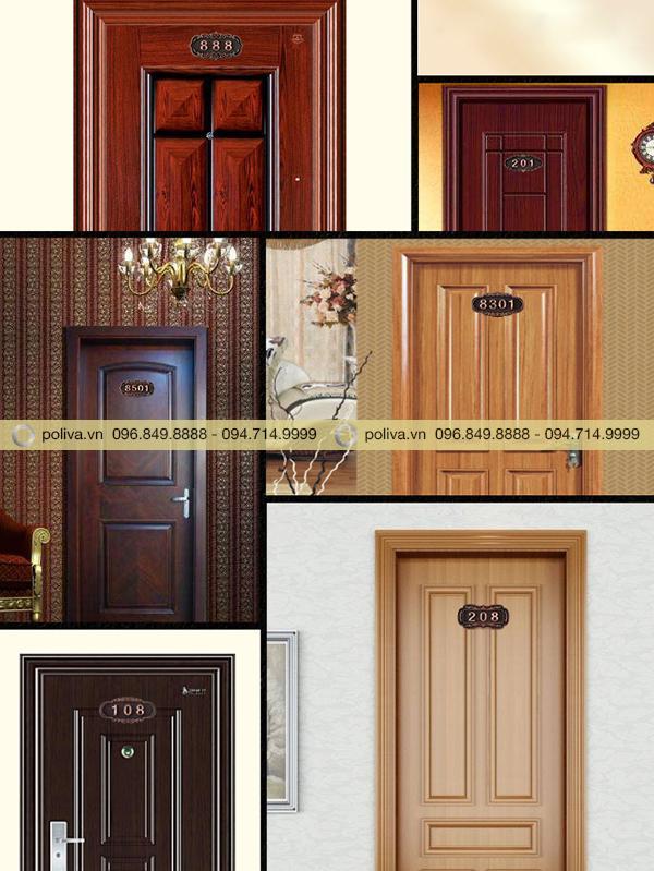 Hình ảnh các phòng khách sạn sử dụng sản phẩm biển số phòng bằng đồng
