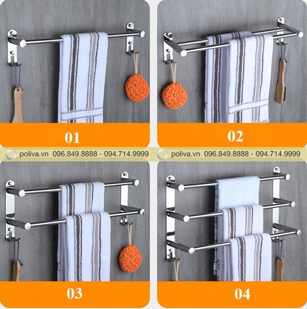 Hình ảnh giá treo khăn trong nhà tắm khách sạn do Poliva cung cấp