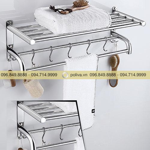 Giá treo khăn phòng tắm inox