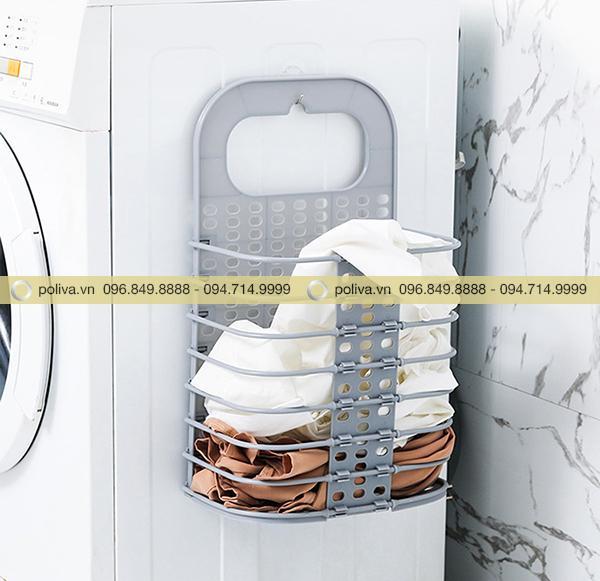 Vật dụng này có thể dán lên tường hoặc máy giặt tùy theo sở thích và nhu cầu
