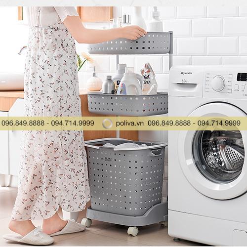 Kệ đựng đồ giặt 2, 3 tầng