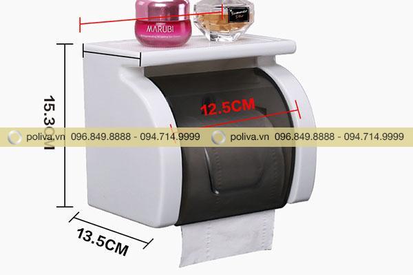 Thiết kế hộp đựng giấy vệ sinh nhỏ gọn, màu sắc đơn giản