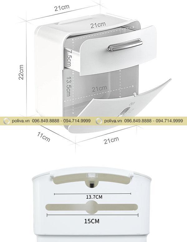 Kích thước nhỏ gọn của hộp đựng giấy vệ sinh khách sạn