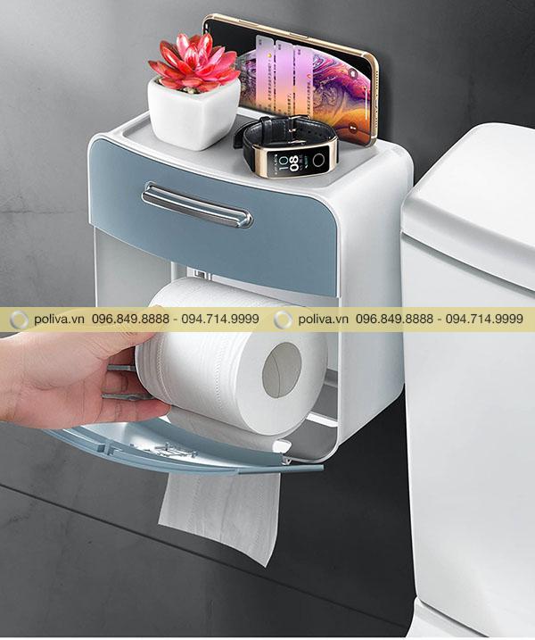 Điện thoại, đồng hồ... được bảo quản nhờ hộp đựng giấy vệ sinh
