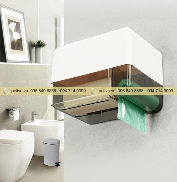 Hình ảnh sản phẩm hộp đựng giấy vệ sinh khách sạn