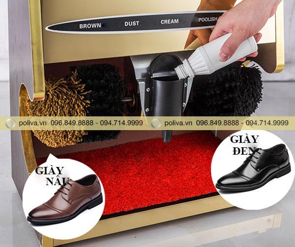 Sản phẩm khi được sử dụng bằng máy đánh giày
