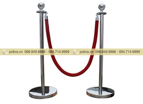 Cột chắn inox dây nhung được phân phối toàn quốc bởi Công ty CP Poliva