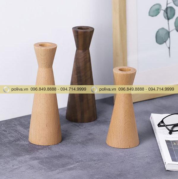 Chân nến bằng gỗ