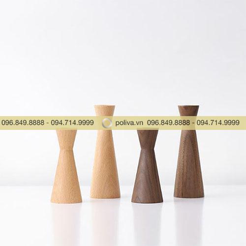 Chân nến gỗ