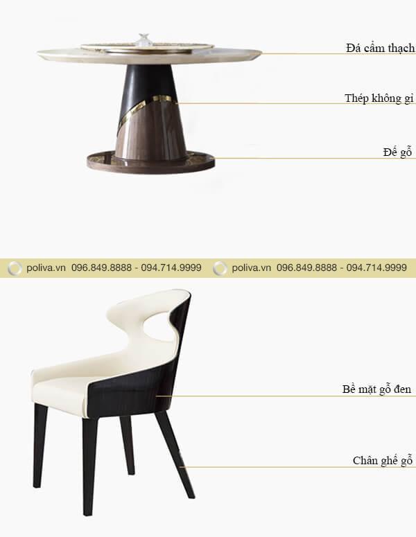 Cấu tạo bàn và ghế dùng trong các nhà hàng
