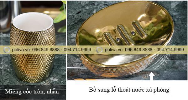 Cấu tạo cốc và khay đựng xà bông chất lượng cao