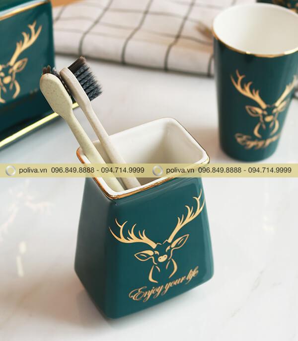 Ống đựng bàn chải và kem đánh răng thiết kế sang trọng