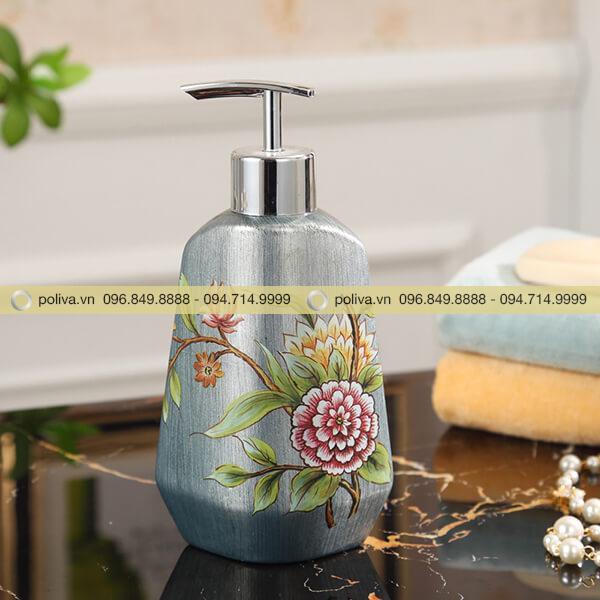 Bình đựng dung dịch dầu gội đầu, sữa tắm có vòi inox chống gỉ sáng bóng
