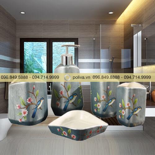 Bộ dụng cụ nhà tắm bằng gốm sứ