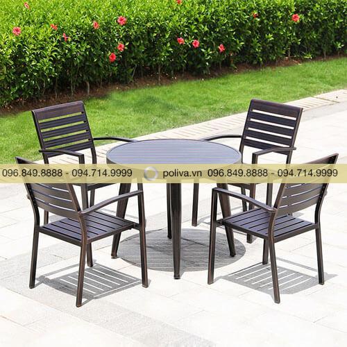 Bàn ghế sân vườn nhôm đúc