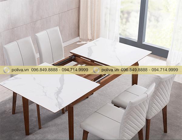 Mặt bàn được thiết kế có thể kéo dài hoặc thu ngắn