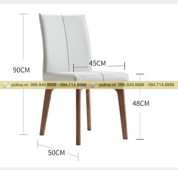 Ghế nhà hàng có kích thước vừa phải
