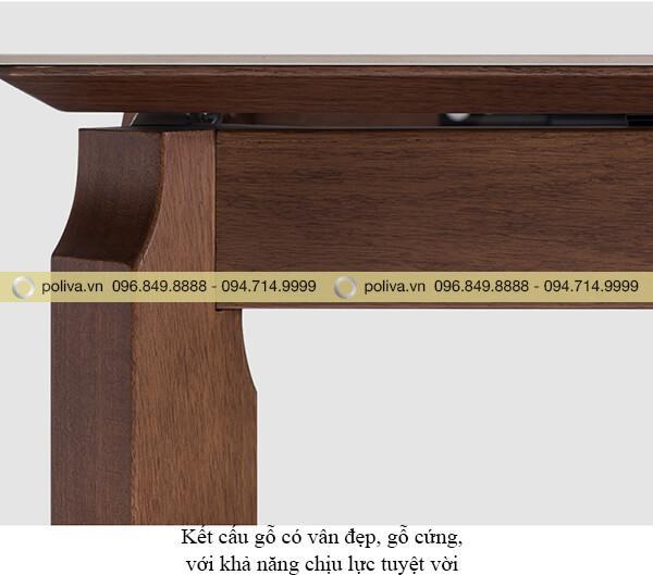 Chân bàn từ gỗ tự nhiên bền chắc