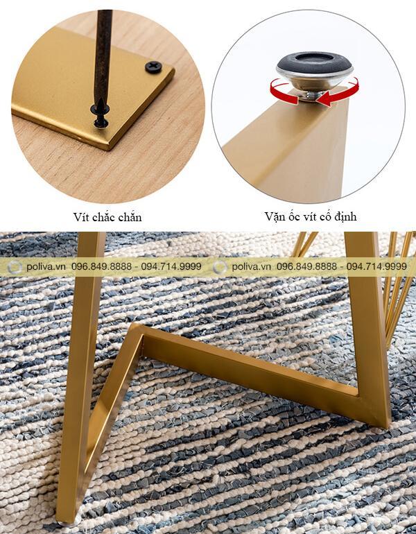 Cấu tạo chân bàn bằng sắt chất lượng tốt