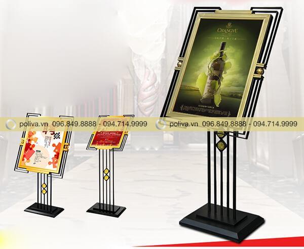Poliva chuyên cung cấp các loại bảng menu, bảng welcome đón khách