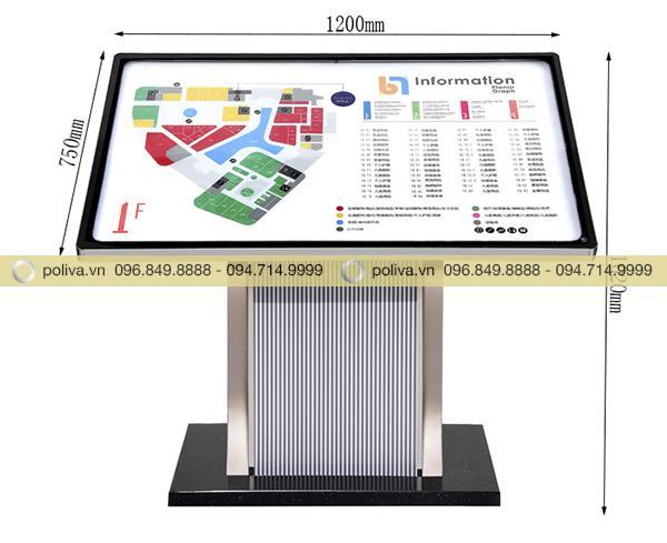 Kích thước bảng menu sử dụng nhiều trong tòa nhà, khách sạn, nhà hàng
