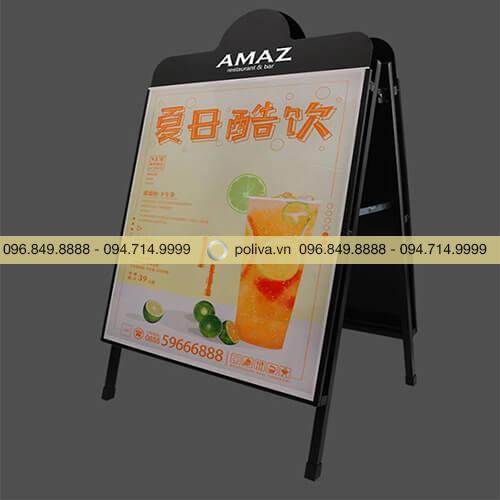 Bảng menu hai mặt