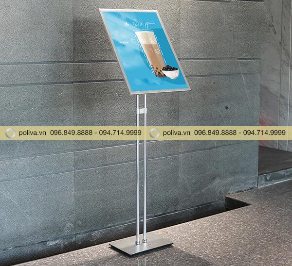 Hình ảnh thực tế của bảng menu quảng cáo